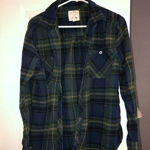 Green and blue flannel